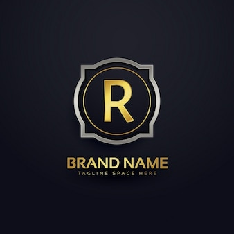 Letter r luxury logo