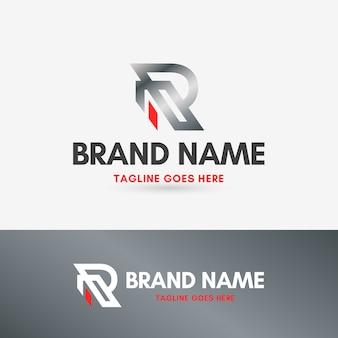 Letter r luxury silver logo
