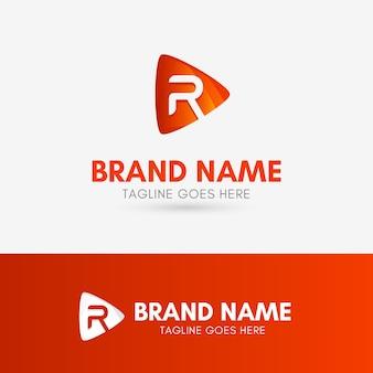 Letter r play logo