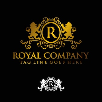 Letter r for royale and real estate company logo