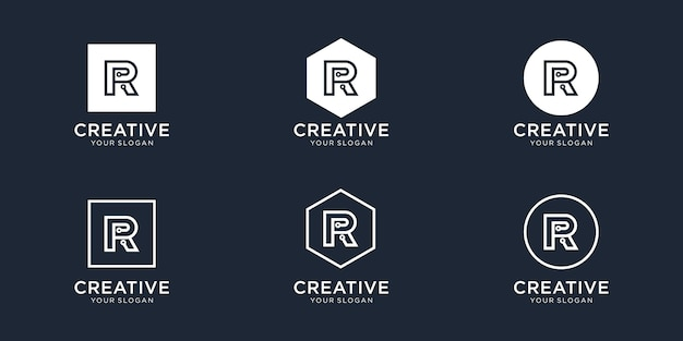 Letter r technology logo design