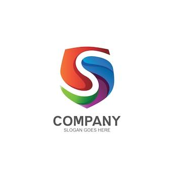 Буква s и логотип щита