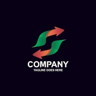 Letter s arrow logo design