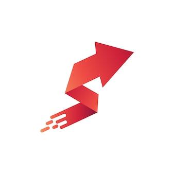Letter s arrow shape logo template