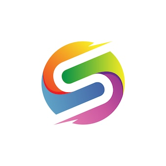 Letter s in circle logo vector