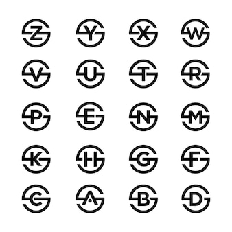 Letter s combination and variation symbol collections