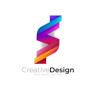 Letter s design illustration, modern logo vector, s icons