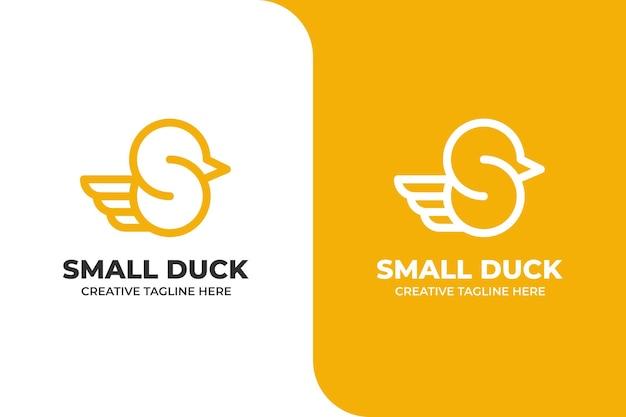 Letter s duck monoline business logo