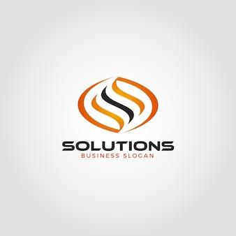 Letter s energy solution logo template