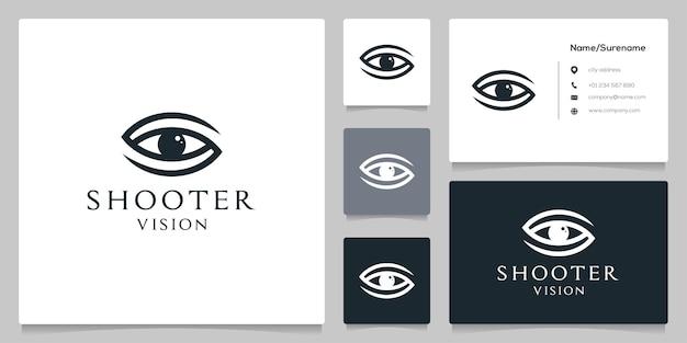 Письмо s глаз дизайн логотипа с визитной карточкой