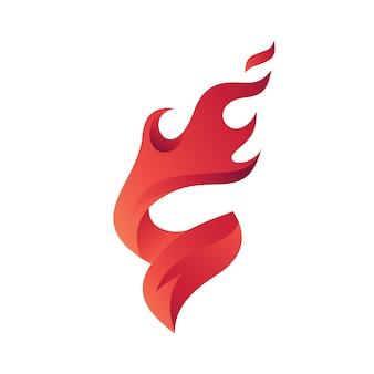 文字S Fire Logoテンプレート