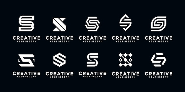 Letter s initial logo icon design template.