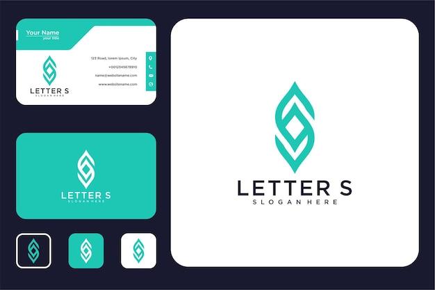 文字の葉のロゴデザインと名刺