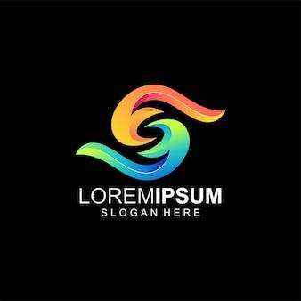 Letter s logo color
