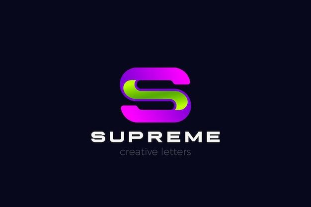 文字sのロゴ。コーポレートビジネステクノロジー