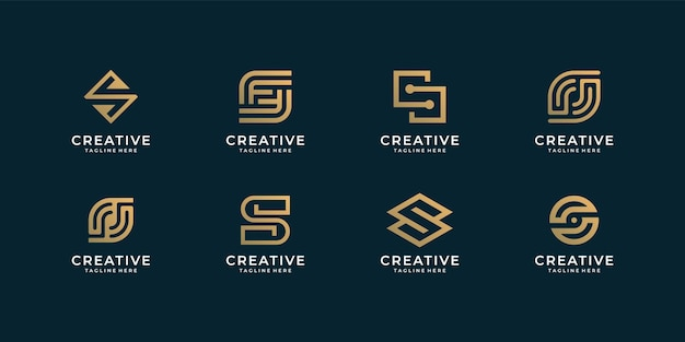 Letter s logo design   bundle collection for branding company.