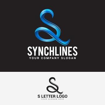편지 s 로고 디자인 벡터 템플릿