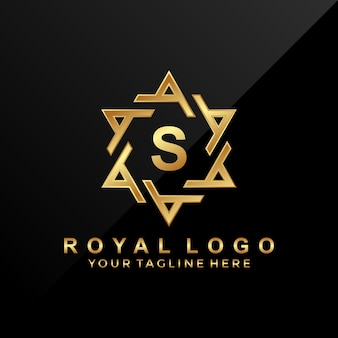Letter s logo design with luxury ornament
