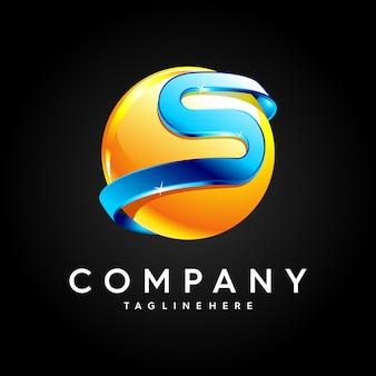 Буква s дизайн логотипа