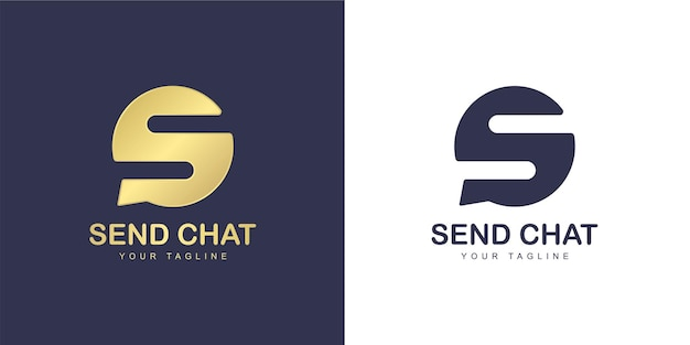 The letter s logo has a chatting concept