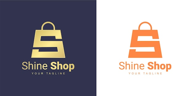 The letter s logo has a shopping concept