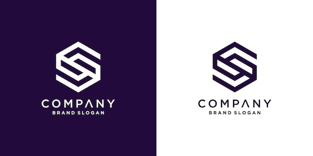 회사 또는 사람에 대 한 기하학적 개념을 가진 편지 s 로고 아이콘 프리미엄 벡터 파트 3
