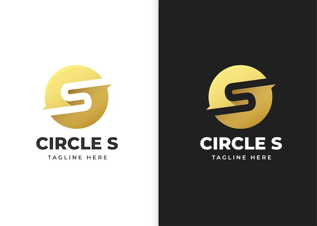 Буква s логотип векторные иллюстрации с дизайном в форме круга