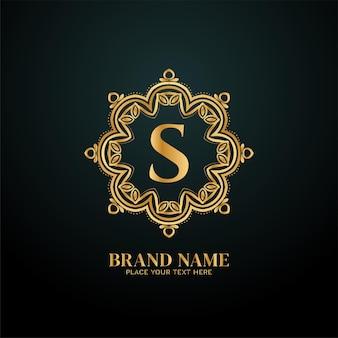 Letter s luxury brand logo concept