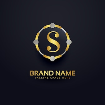 Letter s luxury logo