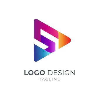Буква s медиа логотип
