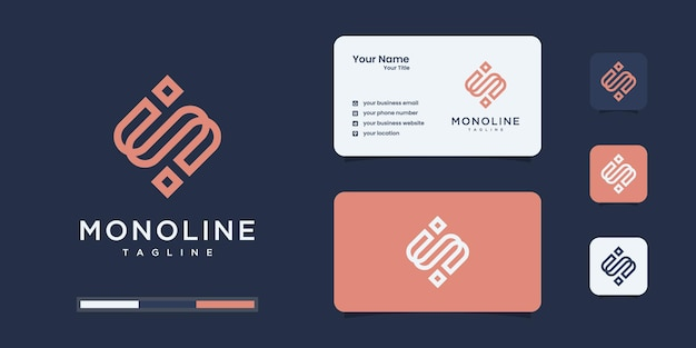 편지의 현대 로고 디자인.