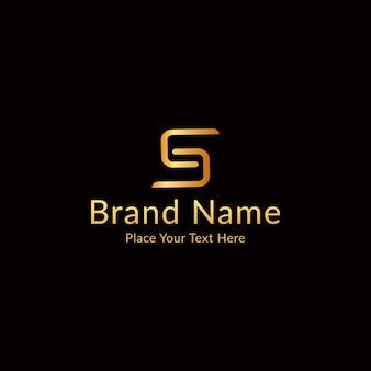 Letter s modern luxury logo