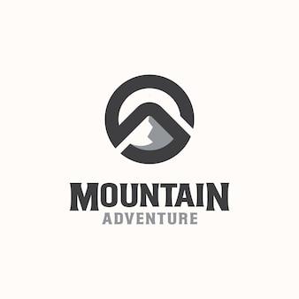 Letter s mountain logo template