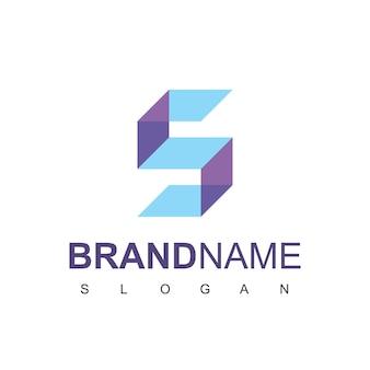 文字sサーバーのロゴデザインベクトル