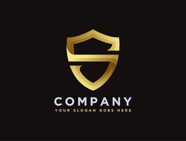 Letter s for shield logo template