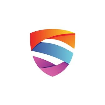 Letter s shield logo vector