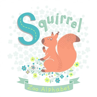 Letter s - squirrel