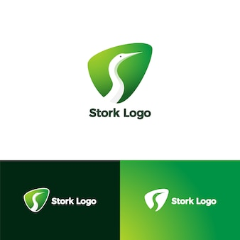 Letter s for stork logo