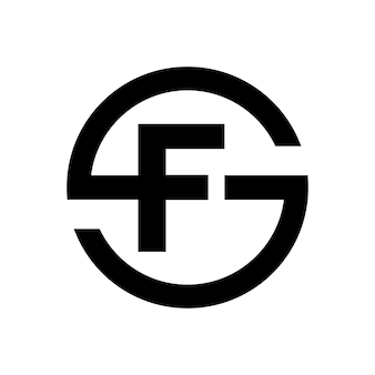 Letter s symbol combination with letter f