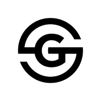 Letter s symbol combination with letter g Premium Vector