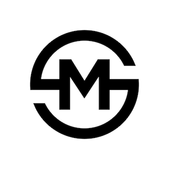 Letter s symbol combination with letter m