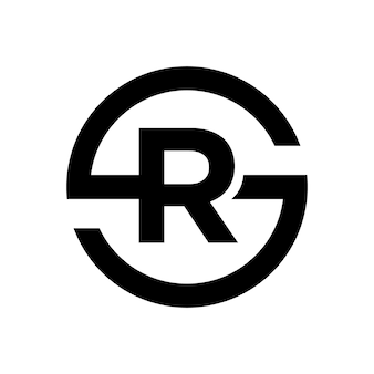 Letter s symbol combination with letter r