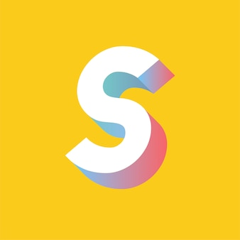 The letter s vector