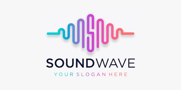 Letter s with pulse . sound wave element. logo template electronic music, equalizer, store, dj music, nightclub, disco. audio wave logo concept, multimedia technology themed, abstract shape.