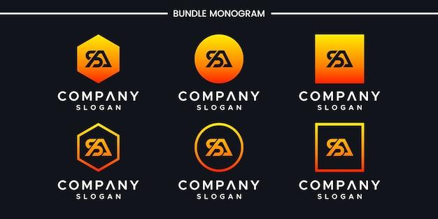 Letter sa inspiring logo design