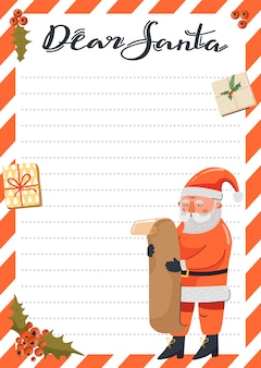 Letter to santa claus template.