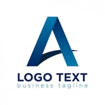 文字の形状のロゴ