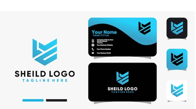 Letter shield inspirations logo and business card design vector template