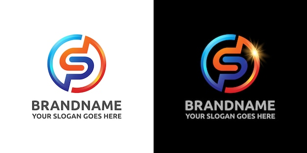 Letter sp sport logo