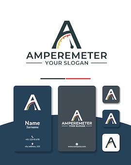Letter a speedometer logo design